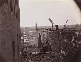 Ruins of Richmond & Petersburg Railroad Bridge, Richmond, Virginia, ca. 1865. Formerly attributed to Mathew B. Brady.