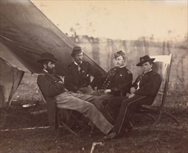 [Four Officers], ca. 1864.