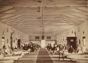 Armory Square Hospital, Interior of Ward K, ca. 1863.