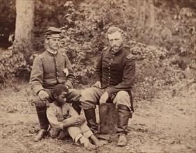 Lieutenant Washington, a Confederate Prisoner, and Capt. Custis [sic] (for Custer) U.S.A., 1862.
