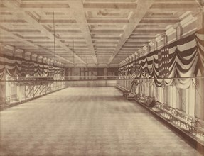 [Interior View of the Ballroom for Lincoln's Second Inaugural Ball], March 1865.