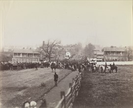 Procession of Troops and Civilians on Way to Dedication of Soldiers' National Cemetery, Gettysburg, Pennsylvania, November 19, 1863. Formerly attributed to Mathew B. Brady.