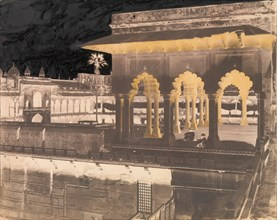 The Diwan-i Khas from the Mussaman Burj, Agra Palace, 1862-64.