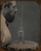 James Hyatt Inhaling Chlorine Gas, 1850-55.
