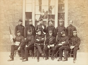 Officers at the School of Military Engineering, Chatham, 1850s.
