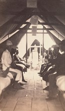 [Wounded Soldiers on Cots, possibly at Harewood Hospital], 1865.