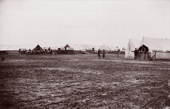 Quartermaster and Ambulance Camp, 6th Corps, Brandy Station, Virginia, 1861-65. Formerly attributed to Mathew B. Brady.