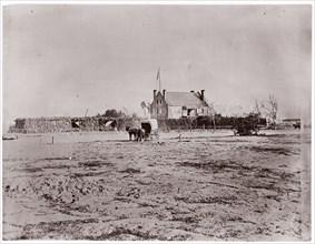 Yellow House, Warren Station, Virginia, 1861-65. Formerly attributed to Mathew B. Brady.