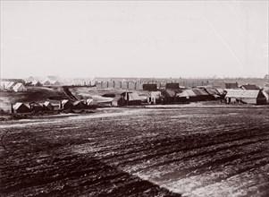 General Hospital, Point of Rocks, Appomattox River below Petersburg, 1864. Formerly attributed to Mathew B. Brady.