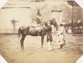 Captain Stuart and the horse 'Tortoiseshell', 1858-61.