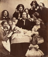 Mr. and Mrs. R. B. Tennent, Mrs. E. H. Yates, Mrs. Brandram, their Children and Three Nurses, 1850s.