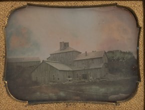 Mill or Warehouse with Vertical Clapboard Siding, 1850s.