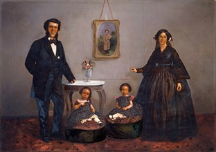 Family Portrait, ca. 1855.
