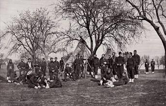 164th New York Infantry, ca. 1861. Formerly attributed to Mathew B. Brady.