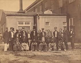 Japanese Embassy, Navy Yard, Washington, DC, 1860.