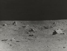Lunar Surface Photographed by Surveyor V, 1967.