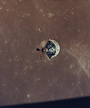 Apollo 11 Command and Service Modules Photographed from the Lunar Module in Orbit, 1969.