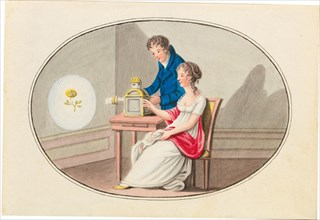 Camera obscura, c. 1830. Creator: Anonymous.