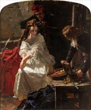 Charlotte Corday in the Prison of the Conciergerie, 1862. Creator: Ward, Edward Matthew (1816-1879).