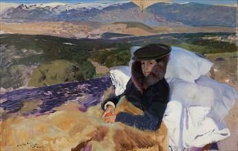 Convalescent Maria in El Pardo, 1906. Creator: Sorolla y Bastida, Joaquín (1863-1923).