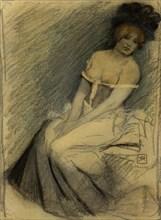 Dans l'attente, 1896. Creator: Rassenfosse, Armand (1862-1934).