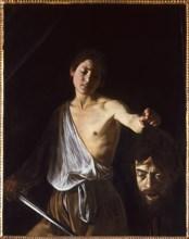 David with the Head of Goliath, 1609-1610. Creator: Caravaggio, Michelangelo (1571-1610).