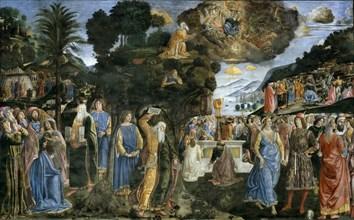 Discesa dal monte Sinai (The Descent from Mount Sinai), 1481-1482. Creator: Rosselli, Cosimo di Lorenzo (1439-1507).