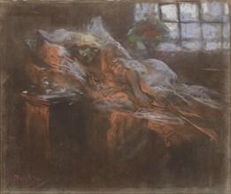 Dreaming. Creator: Mucha, Alfons Marie (1860-1939).