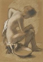 Femme à sa toilette (Woman at her toilet), 1917. Creator: Rassenfosse, Armand (1862-1934).