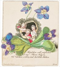 Greeting card, ca 1820. Creator: Anonymous.