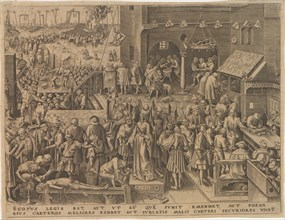 Justitia (Justice) from The Seven Virtues, 1559. Creator: Galle, Philipp (Philips) (1537-1612).