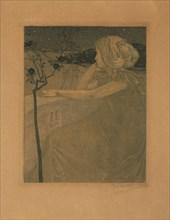 Meditation (On the Balcony), 1899-1900. Creator: Preissig, Vojtech (1873-1944).