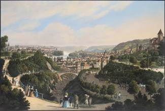 New Town, Vysehrad and Smichov, c. 1830. Creator: Morstadt, Vincenc (1802-1875).