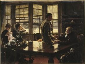Parable of the prodigal Son: the Departure, 1880. Creator: Tissot, James Jacques Joseph (1836-1902).