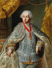 Portrait of Archduke Leopold (future Emperor Leopold II) in wedding gown, ca 1764-1765. Creator: Anonymous.