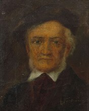 Portrait of Richard Wagner (1813-1883), Second Half of the 19th cen.. Creator: Anonymous.