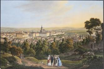 Prague Castle District (Hradcany), c. 1830. Creator: Morstadt, Vincenc (1802-1875).