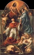 Saint Charles Borromeo among Plague Victims, 1655. Creator: Jordaens, Jacob (1593-1678).