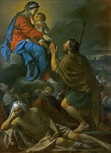 Saint Roch begs the Virgin Mary for liberation from the plague, 1780. Creator: David, Jacques Louis (1748-1825).