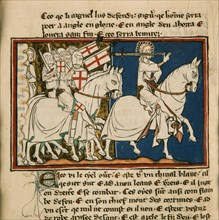 The great king on a white horse. Miniature from: Apocalypse de saint Jean, ca 1320. Creator: Anonymous.