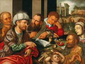 The Parable of the Merciless Creditor, Mid of 16th cen.. Creator: Hemessen, Jan Sanders, van (c. 1500-c. 1566).