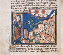 When He arises to make the earth tremble... Miniature from: Apocalypse de saint Jean, ca 1320. Creator: Anonymous.