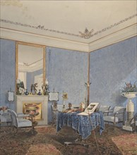 Interior of a Drawing Room, 1838. Creator: Anon.