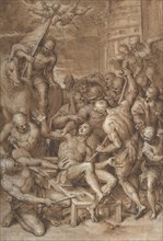 The Martyrdom of Saint Lawrence, 1580s-early 1590s. Creator: Aurelio Luini.