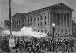 Astor Place Riot, 1849, 1896. Creator: Charles M Jenckes.
