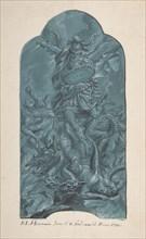The Archangel Michael Banishing Vice, 1782. Creator: Franz Ludwig Hermann.