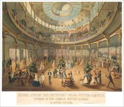 Innere Ansicht des Deutschen Volks Winter Gartens. Interior of the German Winter Garden..., 1856. Creator: Fritz Meyer.