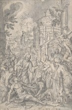 The Raising of the Youth of Naim, late 16th-early 17th century. Creator: Georg Pecham.