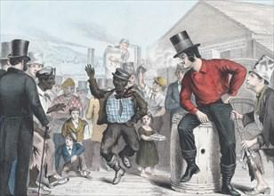 Dancing for Eels, 1848. Creator: James Brown.