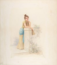 Lady with a Fan, n.d.. Creator: Louis-Robert Cuvillon.